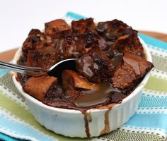 Radishes and Rhubarb: Chocolate Bread Pudding with Bourbon Butterscotch Sauce