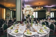 Elegant candlestick....white hydrangeas and stock Blush Custom Weddings