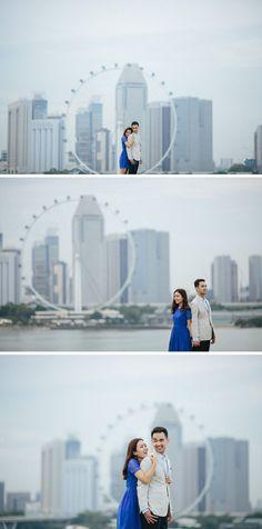 Singapore Pre-wedding Photos at Marina Barrage