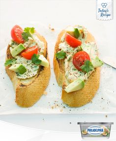 Graduate from simple snacks to classy appetizers with these Avocado Tomato Cheese Crostini.