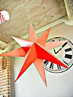 Tuto pour faire des étoiles en papier en 3D { DIY }