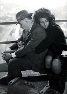 One of my all-time favourite photos, Sophia Loren with husband Carlo Ponti