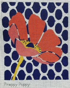 Preppy Poppy Needlepoint With Stitch Guide