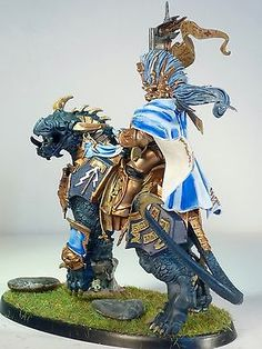 Warhammer Age Of Sigmar Stormcast Eternals Lord Celestant on Dracoth Painted