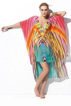 Multi-Coloured Kaftan Dress - Captures the Gorgeous Hues of the SouthWest