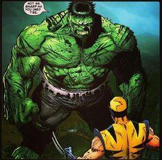 Hulk vs Wolverine.