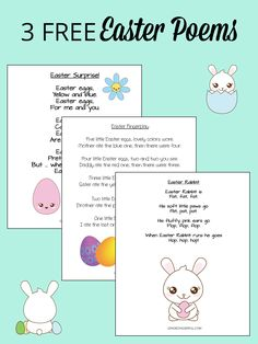 3 Adorable Easter Poems for Instant Download: FREE