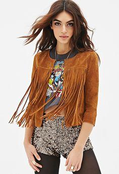 Fashion Fringed Leather Cardigan Jacket Women Slim Thin Long Sleeve Outwear Coat Plus Size Jaqueta Feminina Boho Outfits, Fashion Outfits, Fringe Outfits, Fringe Fashion, Boho Fashion, Fashion Trends, Cowgirl Fashion, Forever 21, Coats For Women