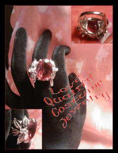 Large Red Electro Plate Costume Ring by PurpleHazeDayz on Etsy, $10.00