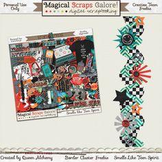 Scrapbooking TammyTags -- TT - Designer - Magical Scraps Galore, TT - Item - Border, TT - Style - Cluster