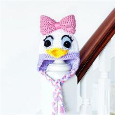 Crochet Baby Hats Daisy Duck Inspired Baby Hat - Media - Crochet Me... Check more at https://www.newbornbabystuff.com/crochet-baby-hats-daisy-duck-inspired-baby-hat-media-crochet-me/