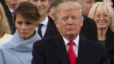 Melania Trump caught on camera scowling during inauguration