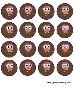 Free owl printables – several color choices. Clothesline display idea--we're hooting about owl great work