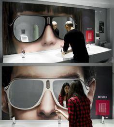 #Ad espelhos em forma de óculos