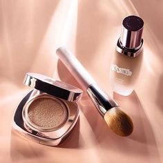 """Our favorite products for layering. apply Luminuous Lifting Cushion Foundation *over* the Soft Fluid Wear Foundation with their Foundation Brush for an extra """"done"""" look. Mua Makeup, Makeup Cosmetics, Makeup Tools, Beauty Makeup, Ysl, Vaseline Beauty Tips, Photography Tips, Product Photography, Makeup Photography"""