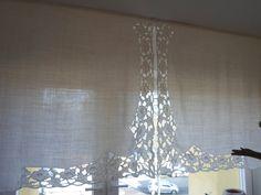 altes französisches Laken getrennt und an das Fenster gehängt...old french Linen for my Windows