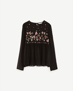 Image 8 of EMBROIDERED PLUMETIS TOP from Zara