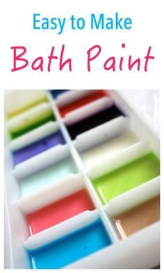 Looking for some CLEAN FUN This is an easy bath paint recipe that will keep your little ones entertained for hours!!