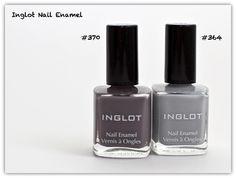 Inglot Nail Polish 370, 364 Swatches Love Makeup, Diy Makeup, Makeup Tips, Grey Nail Art, Gray Nails, Inglot Nail Polish, Pretty Hands, Beauty Review, Essie