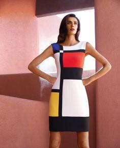 Short shift dress with multi-coloured design - Catherines of Partick Mondrian Dress, Mondrian Art, Mode Pop, Joseph Ribkoff Dresses, Colorblock Dress, Designer Dresses, Beautiful Dresses, Short Dresses, Fashion Dresses