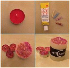 Leuke glitter kaarsen maken (makelijk)