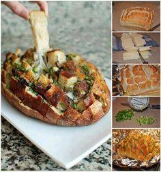 Een broodje vullen met kaas en kruiden, eventjes in de oven... En plukken maar!