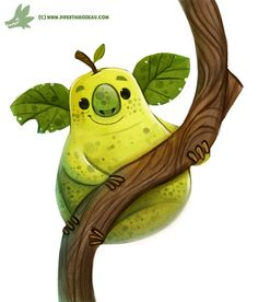 Daily Paint #1171. Koala Pear by Cryptid-Creations.deviantart.com on @DeviantArt