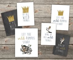 Where The Wild Things Are Prints - Digital File, Print Yourself by KateMCustomDesigns on Etsy https://www.etsy.com/listing/454820380/where-the-wild-things-are-prints-digital