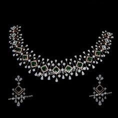 Diamond Necklace Simple, Gold Jewelry Simple, Dimond Necklace, Diamond Pendant Necklace, Gold Jewellery Design, Diamond Jewellery, Wedding Jewelry Sets, Wedding Necklace Set, Jacket Kurti