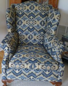 flame stitch chair