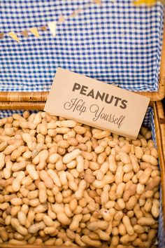 DIY barn wedding.....SERIOUSLY LOVE THIS IDEA...having peanuts on the tables!!   Keywords: #barnweddings #jevelweddingplanning Follow Us: www.jevelweddingplanning.com  www.facebook.com/jevelweddingplanning/