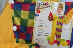 Child Clown Boy Girl Fancy Dress Costume Party/school Dressing up Med Fancy Dress For Kids, School Dresses, School Parties, Dress Up, Costumes, Children, Boys, Party, Globes