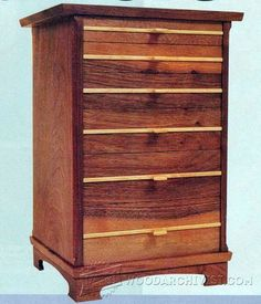 Small Chest of Drawers Plans - Furniture Plans and Projects   WoodArchivist.com