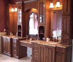 Bathroom Cabniets!  I like the elegant feel of the room