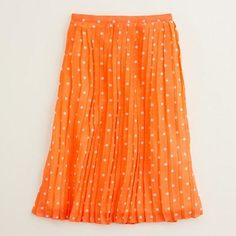 Jcrew FACTORY POLKA-DOT PLEATED MAXISKIRT