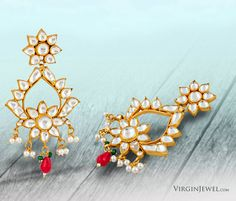 Made with love, Made for love. <3  Prep up for Valentine's Day with Virgin Jewel Crystal Polki Earrings.