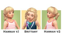 Hi everyone! I've got some toddler conversions of my own hairs to share with you all! I was asked to convert some of my hairs to toddlers when we first got them in a patch, and with the release of the...