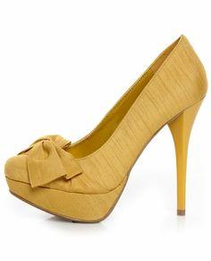 yellow heels $36