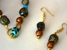 Dia de los muertos Day of the dead skull by DABANGAjewelry on Etsy, $40.00