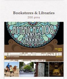 """Bookstores & Libraries: This is more about books & libraries & public collections (e.g., museum libraries) as physical entities than about reading choices (for which, see """"Favorite Reads""""), though some reading choices are here, as well. Related pins will be found in many other boards, among them """"Book Delivery Systems,"""" """"Bookshelves & Home Libraries,"""" """"Bookcase/Fireplace Combinations,"""" """"Book Art,"""" """"Librarianship,"""" and """"Training & Education."""""""