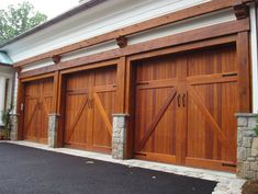 Did you remember to shut the garage door? Most smart garage door openers tell you if it's open or shut no matter where you are. A new garage door can boost your curb appeal and the value of your home. Garage Door Trim, Garage Door Company, Custom Garage Doors, Carriage Garage Doors, Modern Garage Doors, Overhead Garage Door, Garage Door Styles, Wood Garage Doors, Garage Door Design