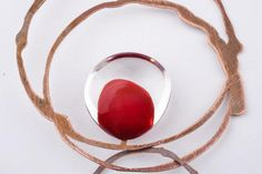 Drop necklace - Glass and copper - Materiaprimadesign