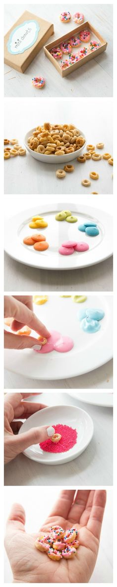 Mini Doll Donuts for Tiny Tea Parties | Leprechaun, Little Ones and Donuts