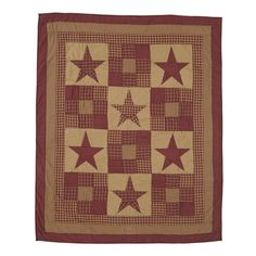 Ninepatch Star Quilted Throw 60x50in