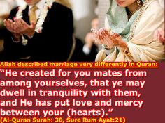 MARRIAGE LIFE IN ISLAM.  Sponsor a poor child learn Quran with $10, go to FundRaising http://www.ummaland.com/s/hpnd2z