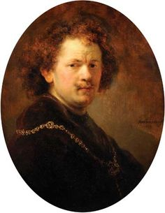 Portrait of the Artist Bare-Headed, oil on wood by Rembrandt van Rijn, 1633; in the Louvre, Paris. 60 × 47 cm.