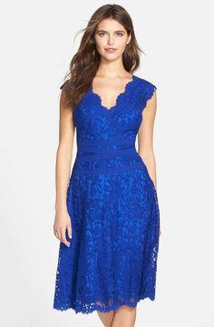 Love the Tadashi Shoji Lace Fit & Flare Dress on Wantering.