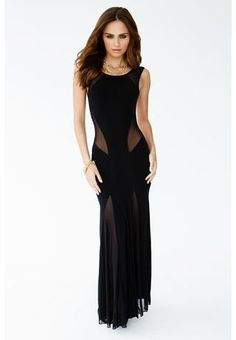HOURGLASS ILLUSION LOW BACK MAXI DRESS
