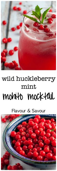 Wild Huckleberry Mint Mohito Mocktail |www.flavourandsavour.com