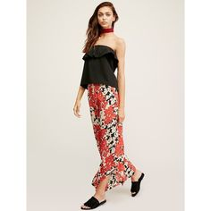 Lucina Floral Hippie Pant ($100) ❤ liked on Polyvore featuring pants, floral printed pants, floral print pants, floral wide leg pants, stretchy pants and stretch pants